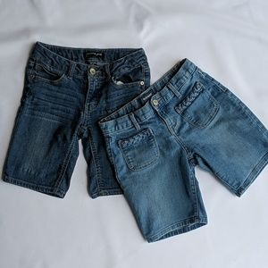 Pair size 10 denim shorts